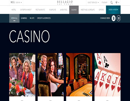 Bellagio Casino Page